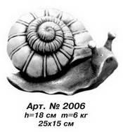 Фигуры животных «Улитка» большая 25х15 см, Н=18 см