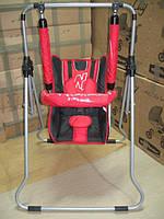 Детские качели 3 в 1 Adbor №1 со столиком красный с черным, фото 1