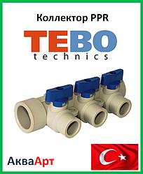 Tebo коллектор ппр синий 32х20х3 вых.