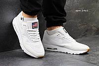 Мужские кроссовки Nike Air Max 1 Ultra Moire, белые, светящиеся /кроссовки мужские Найк Аир Макс 1 Ультра Моир