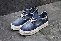 Женские мокасины Gipanis, джинсовые, летние / мокасины женские  Гипанис, на шнурках