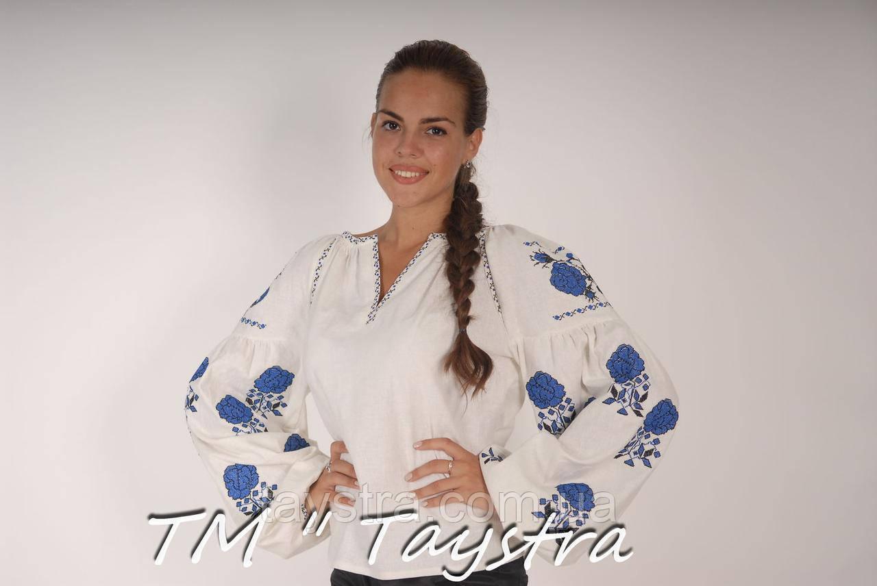 Блузка бохо вышитая, белая, лен, этно стиль, Bohemia