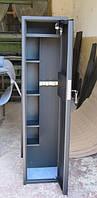 Сейф Оружейный Усиленный СО 1500У/3ТП для хранения Трёх Ружей высотой до 1320 мм с кассовым отделением и поло