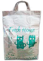 Fresh House (Фреш Хаус) минеральный наполнитель зеленый мелкий 0,8-1,6 мм с чайным деревом, 5 кг