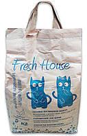 Fresh House (Фреш Хаус) минеральный наполнитель синий средний 0,9-3,8 мм с чайным деревом, 5 кг