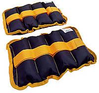 Утяжелители-манжеты для рук и ног TK 004 (2x2 kg верх полиестер наполнитинль песок)