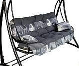 Подушки,матрасы для садовых качель Wst.Grey 175 см., фото 2