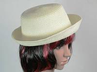 Шляпа летняя соломенная Котелок с полями
