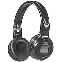 Складная bluetooth гарнитура ZEALOT B570 черная стерео беспроводная с микрофоном LED дисплеем USB AUX microSD