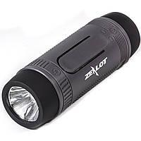 Беспроводная водонепроницаемая колонка BL ZEALOT S1 серая bluetooth с микрофоном LED фонариком USB AUX microSD