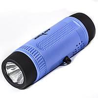 Водонепроницаемая мини колонка BL ZEALOT S1 синяя bluetooth с микрофоном фонариком LED USB AUX micro SD card