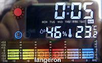 Часы проектор времени с метеостанцией гигрометр