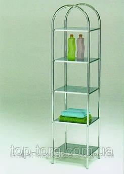 Стелаж-Полка для ванной комнаты металлическая напольная BS-1032-5 Этажерка