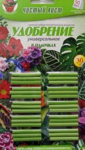 Удобрение палочки удобряющие универсальные для растений и цветов