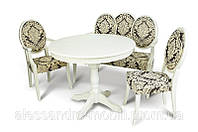 Румынская мебель Medalion (стол, стулья, банкетка)