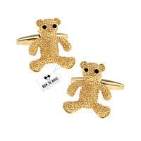 Запонки Bow Tie House золотистые с мишками 06213