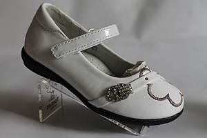 Туфли на девочку белые лакированные, нарядные, красивые туфли тм Miss Beauty р.25