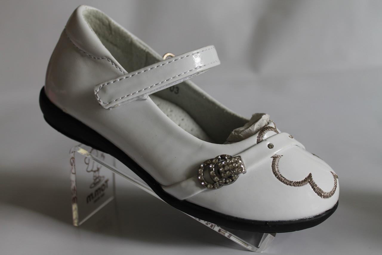 4f8f7edbd Туфли на девочку белые лакированные, нарядные, красивые туфли тм Miss  Beauty р.25