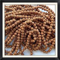 Бусины-орехи Рудракша 0,8 см (108 шт)