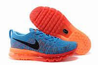Кроссовки Air max 2014 Fyknit Sapphire Blue Orange, фото 1