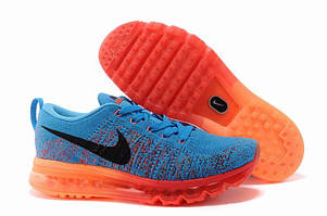 Кроссовки Nike air max 2014 Fyknit Sapphire Blue Orange