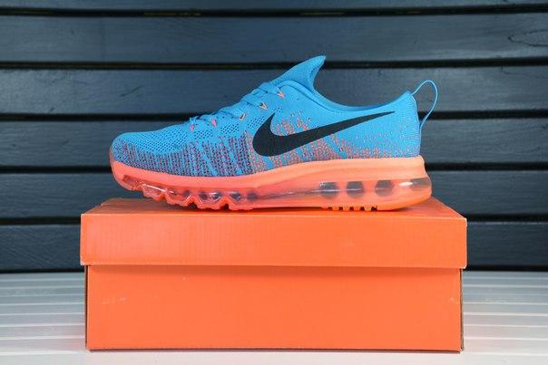Nike air max 2014 Fyknit Sapphire Blue Orange