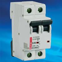 Автоматический выключатель ECOMAT 16А 2P 10kA кат. С