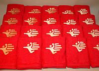 Махровые полотенца с вышивкой логотипа, фото 1