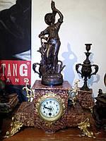 """Старинные каминные часы """"Садовник""""  - Франция, 19 век"""