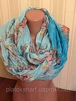 Хомуты женские хлопок 150*100 см шарф - хомут
