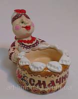 Кума - Солонка из глины Статуэтка сувенир, фото 1