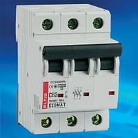 Автоматический выключатель ECOMAT 16А 3P 10kA кат. С