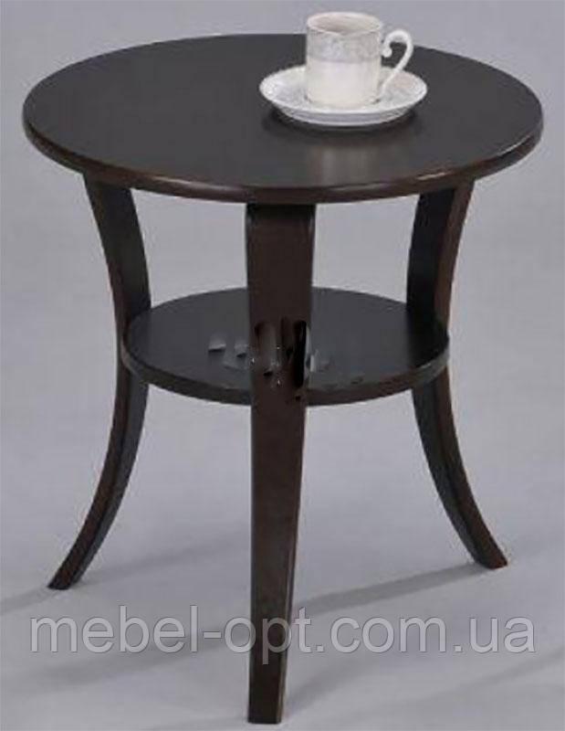Кофейный столик SR-0942 WD, круглый столик, цвет орех