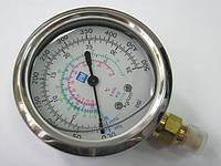 Манометр высокого давления с глицерином P&M RGHBGF-70 ( R-404a, 22, 134a  )