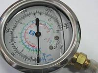Манометр низкого давления виброустойчивый с глицерином P&M RGLBGF-70 ( R-404a, 22, 134a  )