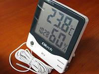 Гигрометр термометр со встроенными часами BТ-2