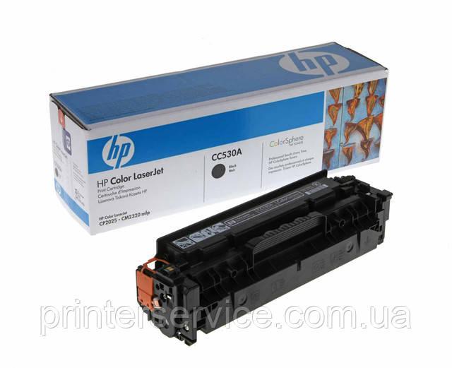 Картридж HP CC530A черный для CM2320nf CM2320fxi CP2025dn CP2025n