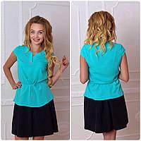 Блузка женская, модель 903, бирюза, фото 1