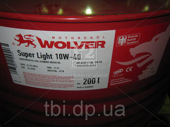 Масло моторное Wolver  Super Light SAE 10W-40 API SL/CF (Канистра 208л)
