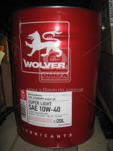 Масло моторное Wolver  Super Light SAE 10W-40 API SL/CF (Канистра 20л)