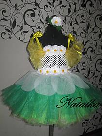 """Карнавальний костюм, юбка-платье из фатина """"РОМАШКА"""""""