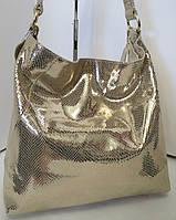Женская большая стильная сумка из натуральной кожи