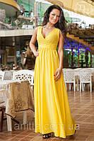 """АТ1 Длинное платье """"Бали"""" желтый"""