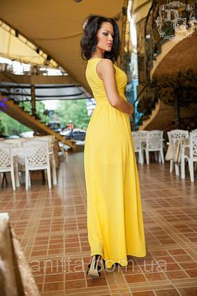 "АТ1 Длинное платье ""Бали"" желтый, фото 2"