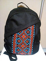 Рюкзак стильный с вышиванкой от украинского производителя ( код: IBR017BL )