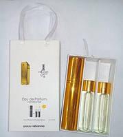 Подарочный набор мужской 1 Million Paco Rabanne (Ван Миллион Пако Рабанн) 3 по 15 мл