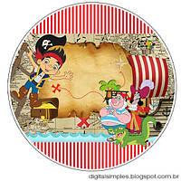 Джейк и пираты нетландии 11  Вафельная картинка