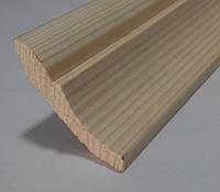 Плінтус дерев'яний євро 60мм  з смереки