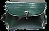 Симпатичная женская сумочка из натуральной кожи зеленого цвета UBN-069968