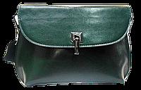 Симпатичная женская сумочка из натуральной кожи зеленого цвета UBN-069968, фото 1